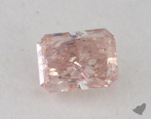 radiant0.27 Carat fancy orange pink
