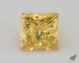 princess0.37 Carat fancy vivid yellow