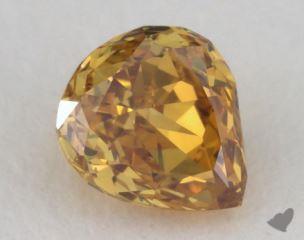 pear0.35 Carat fancy deep orangy yellowSI2
