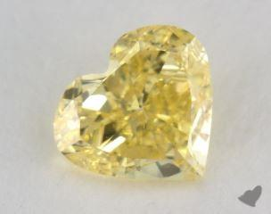 heart1.01 Carat fancy intense yellowVS2