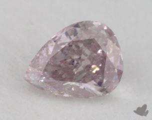 pear0.28 Carat fancy grayish purpleI2