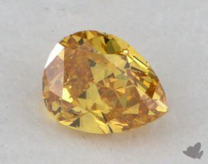 pear0.29 Carat fancy vivid yellow orangeSI1