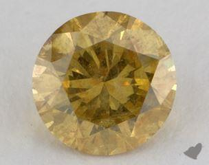 round2.38 Carat fancy deep yellowI2