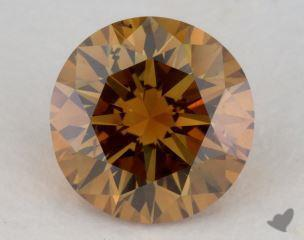 round1.06 Carat fancy deep brownish yellowish orangeI1