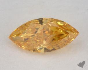 marquise1.14 Carat fancy vivid yellow orangeI2