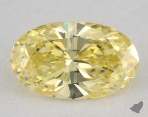 oval0.36 Carat fancy intense yellowVS2