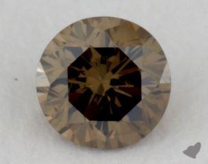 round0.15 Carat fancy dark brownish greenish yellowVS2