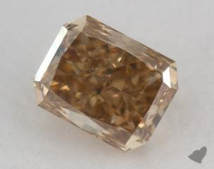radiant1.45 Carat fancy brownish yellowI1