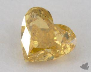 heart0.71 Carat fancy brownish orangy yellowI2