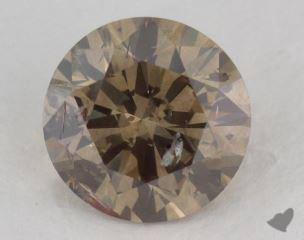 round1.93 Carat fancy dark brownish greenish yellowI2