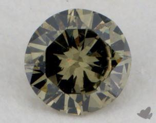 round0.17 Carat fancy yellowish greenI1