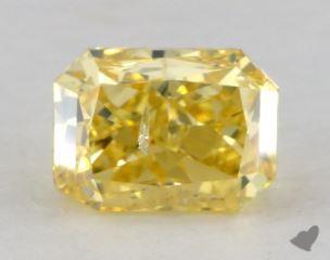 radiant1.01 Carat fancy vivid yellowI1