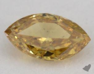 marquise0.24 Carat fancy deep orangy yellowI1