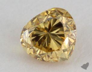 heart0.40 Carat fancy deep yellowSI2