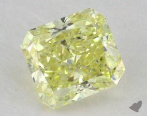 radiant0.63 Carat fancy yellowSI2