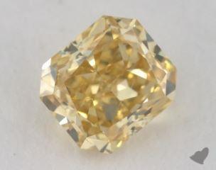 radiant0.48 Carat fancy deep orangy yellowVS2