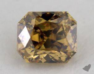 radiant0.29 Carat fancy deep brownish greenish yellowVS2