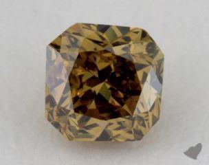 radiant0.39 Carat fancy deep brownish greenish yellowI1