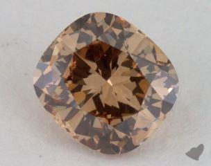 cushion1.02 Carat fancy brownish yellowVS2