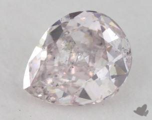 pear0.67 Carat fancy light pinkish purpleI1