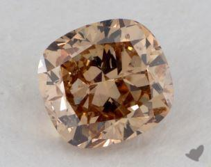 cushion1.14 Carat fancy orangeI1
