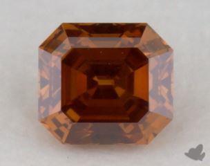 square emerald0.20 Carat fancy deep yellowish orangeSI1