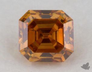 square emerald0.31 Carat fancy deep yellowish orangeSI1