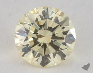 round1.29 Carat light yellowSI1