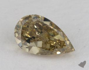 pear1.50 Carat fancy deep brownish greenish yellowSI1