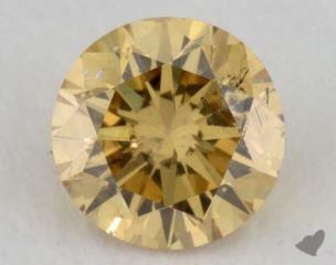 round0.30 Carat fancy intense orange yellowI1