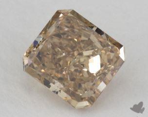 radiant2.02 Carat fancy yellowish brownSI2