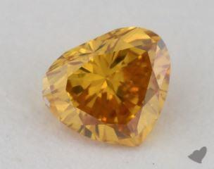 heart0.26 Carat fancy deep orangy yellowSI2