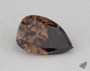 pear1.01 Carat fancy dark brownSI2