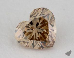 heart1.05 Carat fancy yellowish brownVS1