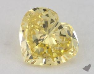 heart1.04 Carat fancy intense yellowI1