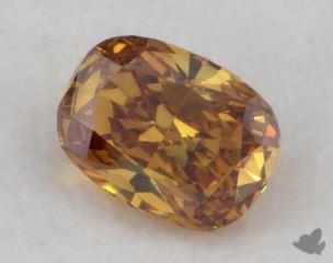 cushion0.25 Carat fancy deep yellowish orangeSI1