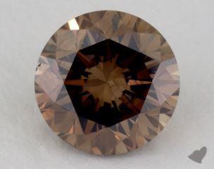 round1.39 Carat fancy dark orangy brownVS1