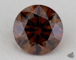 round2.39 Carat fancy dark orangy brownSI2