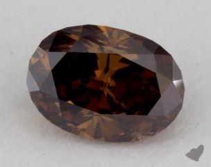 oval0.93 Carat fancy dark orangy brownI1
