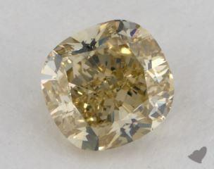 cushion1.03 Carat fancy brownish yellowVS1