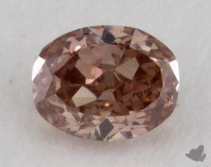 oval0.32 Carat fancy deep orangy pinkSI2