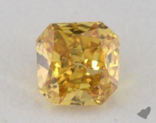 radiant0.21 Carat fancy vivid orangy yellowI1