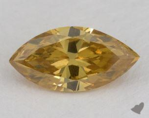 marquise1.51 Carat fancy deep brownish orangy yellowI1
