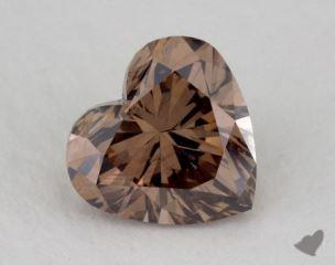 heart1.23 Carat fancy dark orangy brownSI2