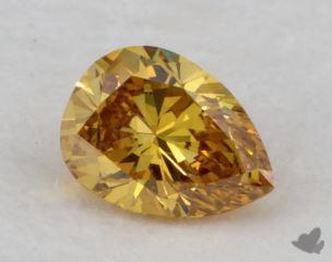pear0.26 Carat fancy deep yellowish orangeSI1