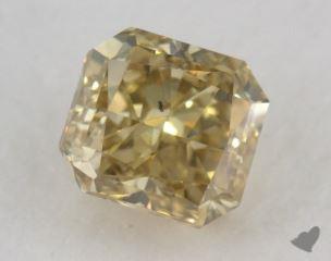 radiant0.91 Carat fancy deep brownish greenish yellowSI1