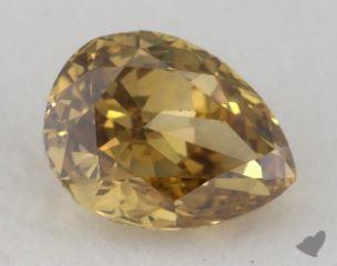 pear0.30 Carat fancy deep brownish greenish yellowSI1