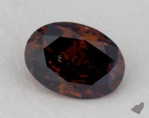 oval0.55 Carat fancy deep brownSI2
