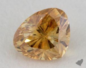 heart0.33 Carat fancy intense orange yellowI1