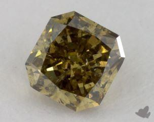 radiant0.69 Carat fancy deep grayish greenish yellowI1